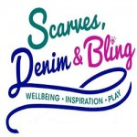 Scarves Denim and Bling small 2